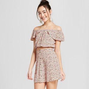 Xhilaration Floral Crop Top w/ Skirt